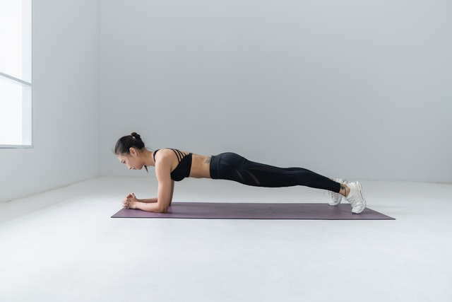 plank for lower back exercises at home