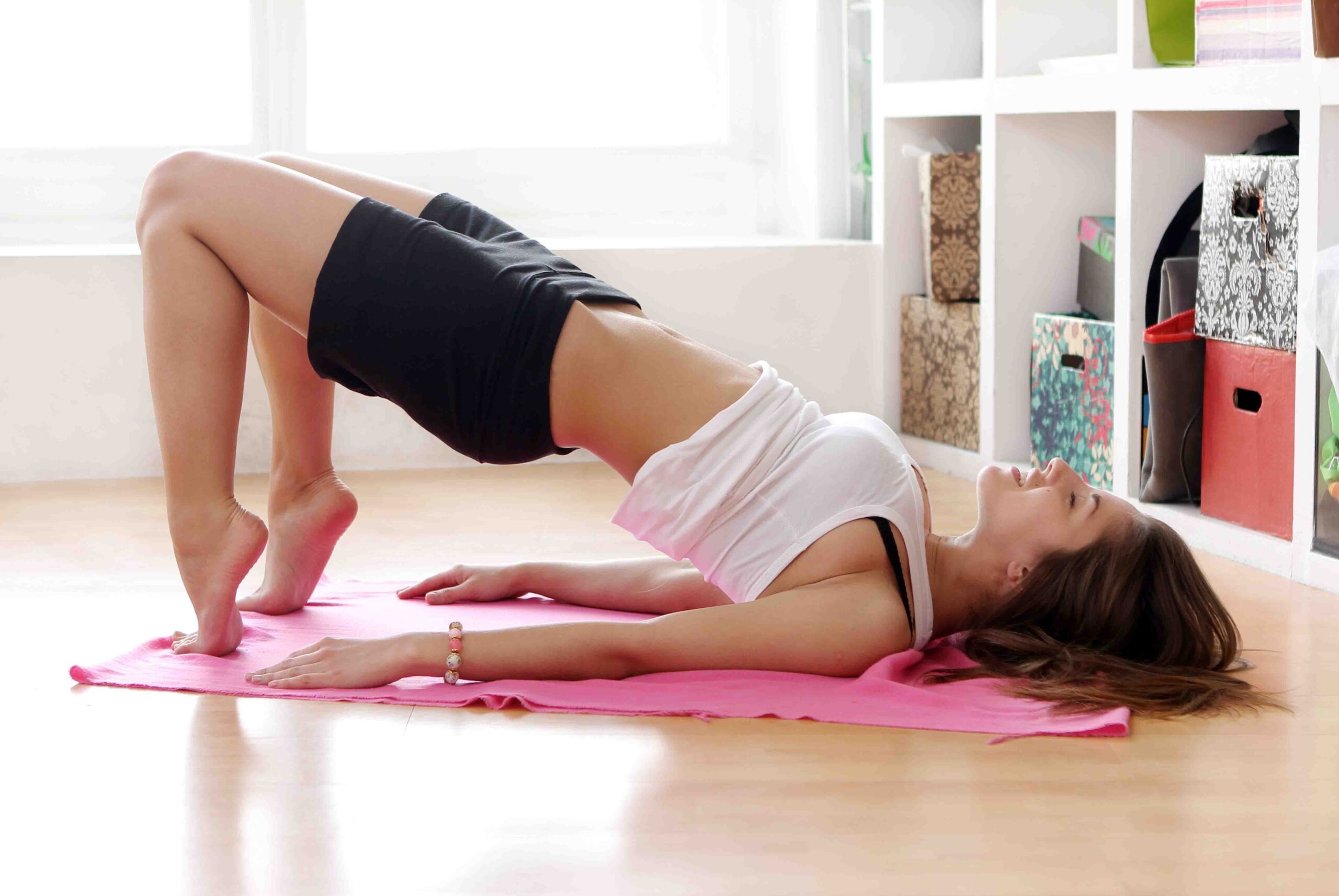 Glute Bridge in Glute activation exercises at home