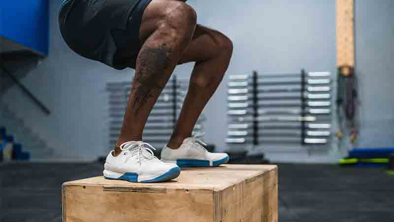 box jump in exercise in Glute activation exercises at home