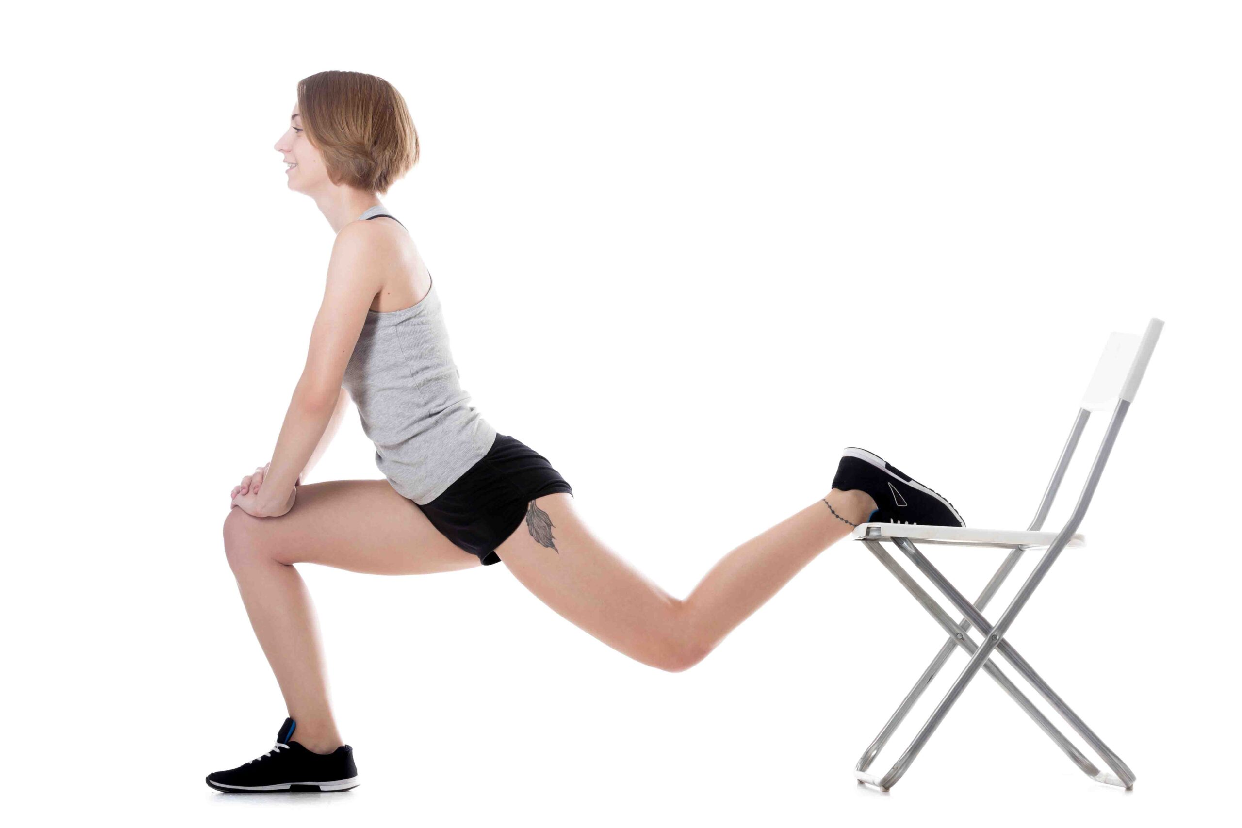 Bulgarian split squat in Glute activation exercises at home