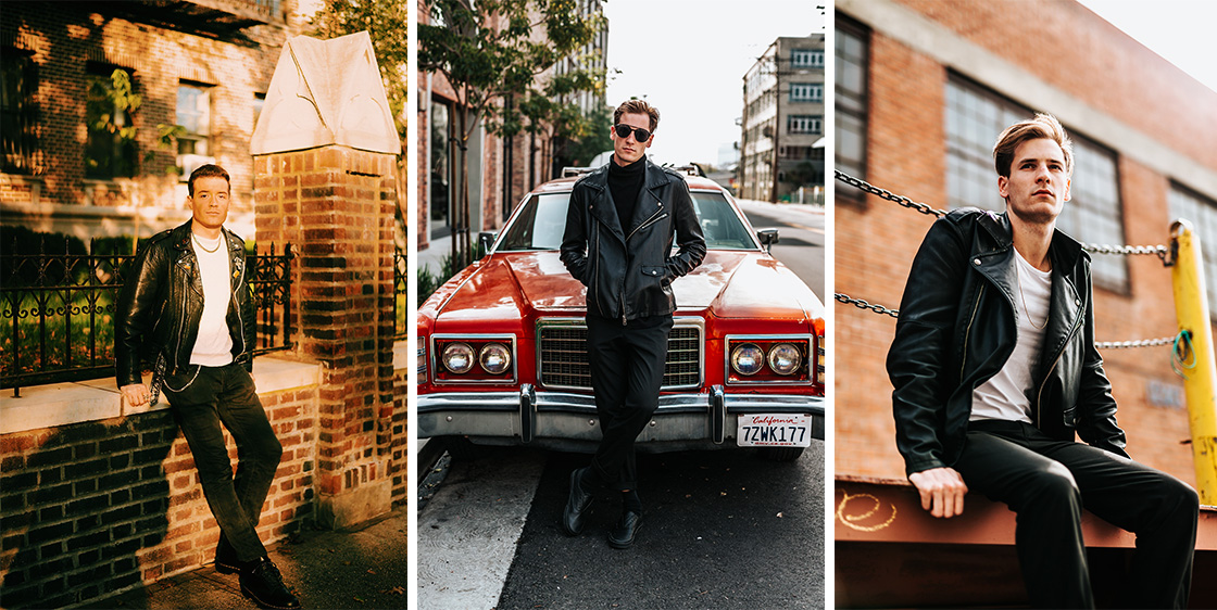 How to wear a leather jacket without looking a Biker