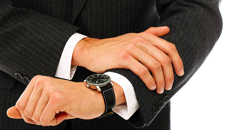 How to wear a watch with suit