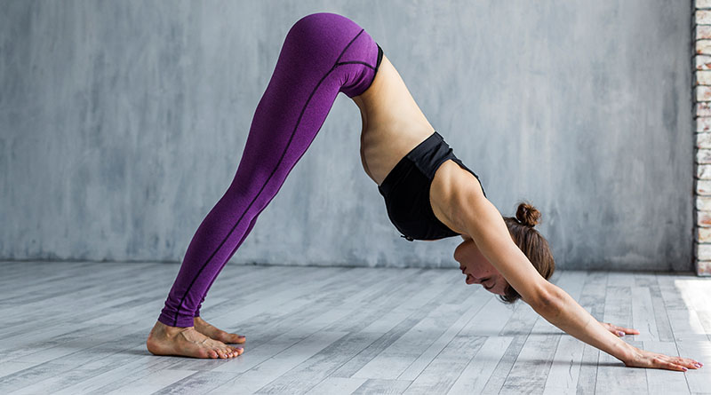 Yoga stretches before running