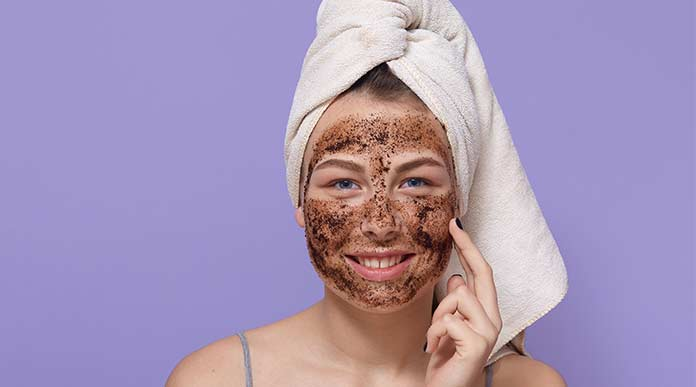 coffee homemade scrub for glowing skin