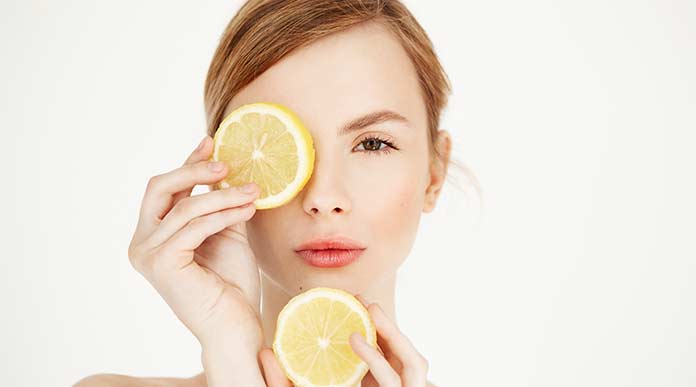 lemon homemade scrub for glowing skin