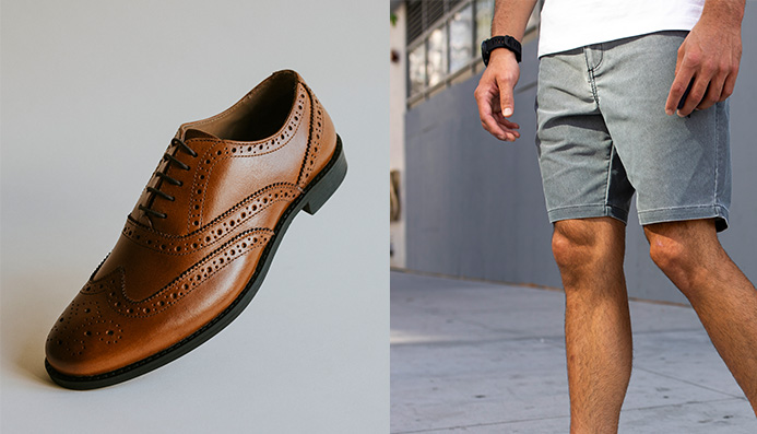 Can you wear dress shoes with shorts