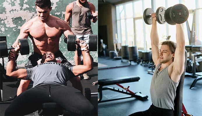 Can you work out chest and shoulders on the same day